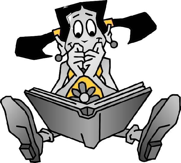 une lectrice captivée